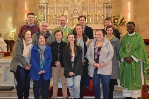 Diocese of Armidale WYD 2016 Pilgrims after the commissioning Mass at Ss Mary & Joseph's Cathedral 10th July, 2016 Back L-R: Eddie Sadgrove, Bishop Kennedy, Gerard Ryan, Henry Buckman Middle L-R: Lee Herden, Katie McMineman, Mary Davison, Father Francis Front L-R: Renee Austin, Lauren Donnelly, Ed Ryan, Amy Roff, Courtney Mace Photos courtesy of Catie's Captures